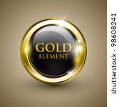 golden shiny modern element.... | Shutterstock .eps vector #98608241