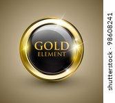 golden shiny modern element.... | Shutterstock .eps vector #98608241