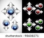glossy modern  button. web... | Shutterstock .eps vector #98608271