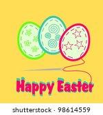 happy easter | Shutterstock .eps vector #98614559