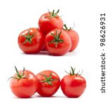 collection of tomatoes with a... | Shutterstock . vector #98626931