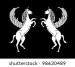 wings horse | Shutterstock .eps vector #98630489
