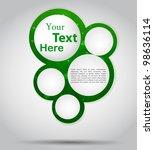 green abstract card. vector... | Shutterstock .eps vector #98636114