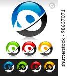 Vector Set Of Swoosh O Logo...