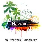 vector tropical background | Shutterstock .eps vector #98650019