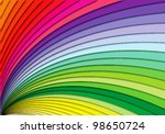 curving rainbow stairs ...