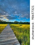a sunset over the marsh and... | Shutterstock . vector #98657321