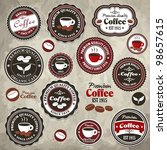 vintage frame with coffee... | Shutterstock .eps vector #98657615