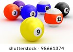 a group of colorful pool balls... | Shutterstock . vector #98661374