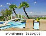 Backyard With Swimming Pool An...