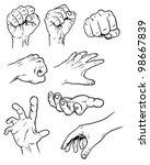 hand poses | Shutterstock .eps vector #98667839