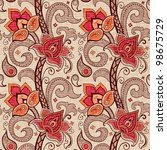 floral decorative seamless...   Shutterstock . vector #98675729