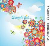 summer flowers | Shutterstock .eps vector #98680931