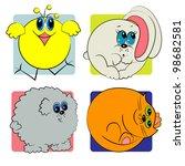 cartoon animals set. zoo animals | Shutterstock .eps vector #98682581