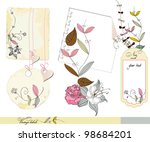 floral scrapbook elements  and... | Shutterstock .eps vector #98684201