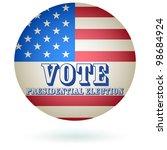 presidential election vote... | Shutterstock . vector #98684924