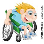cartoon illustration of a happy ... | Shutterstock .eps vector #98693321