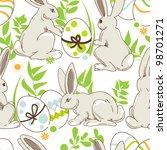 Easter Cartoon  Seamless...