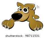 amusing,animal,brown,canine,cartoon,character,cheerful,clip-art,comic,curios,dog,down,funny,illustration,isolated