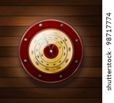 Weather Gauge On A Wooden...