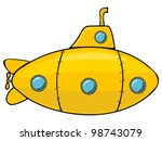 yellow submarine | Shutterstock .eps vector #98743079