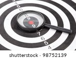 magnifier and dartboard | Shutterstock . vector #98752139