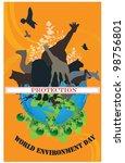 world environment day   black... | Shutterstock .eps vector #98756801
