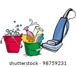 cleaning | Shutterstock .eps vector #98759231