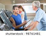 fitness trainer coaching... | Shutterstock . vector #98761481
