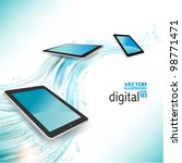 stylish tablet with digital... | Shutterstock .eps vector #98771471
