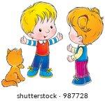 children 214 | Shutterstock . vector #987728
