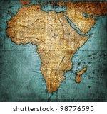 vintage map africa   mapmaker... | Shutterstock . vector #98776595