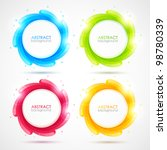 Set Of Colorful Vector Elements