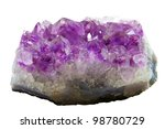 purple rough amethyst crystals... | Shutterstock . vector #98780729