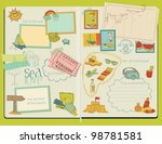 vector scrapbook design... | Shutterstock .eps vector #98781581