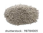 growmore fertiliser in a heap on a white background - stock photo