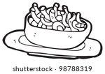 cartoon bowl of spaghetti | Shutterstock . vector #98788319