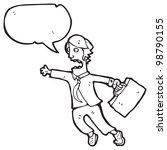 cartoon man late for work | Shutterstock . vector #98790155