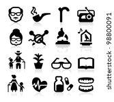 senior lifestyle icons set... | Shutterstock .eps vector #98800091