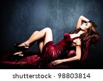elegant sensual young woman in... | Shutterstock . vector #98803814