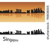 singapore skyline in orange... | Shutterstock .eps vector #98808005