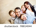 portrait of a happy family... | Shutterstock . vector #98814044