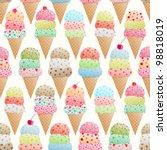 seamless vector pattern of... | Shutterstock .eps vector #98818019