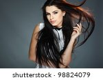 elegant sexual woman in white ... | Shutterstock . vector #98824079