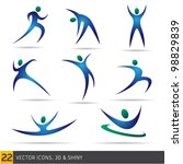 fitness elements | Shutterstock .eps vector #98829839