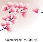magnolia flowers   Shutterstock .eps vector #98831891