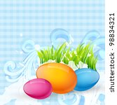 colorful cute easter vector... | Shutterstock .eps vector #98834321