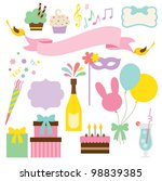 vector illustration of party... | Shutterstock .eps vector #98839385
