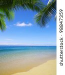 beautiful beach and tropical sea | Shutterstock . vector #98847359