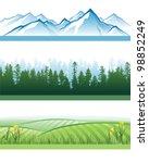 3 Horizontal Landscape Banners